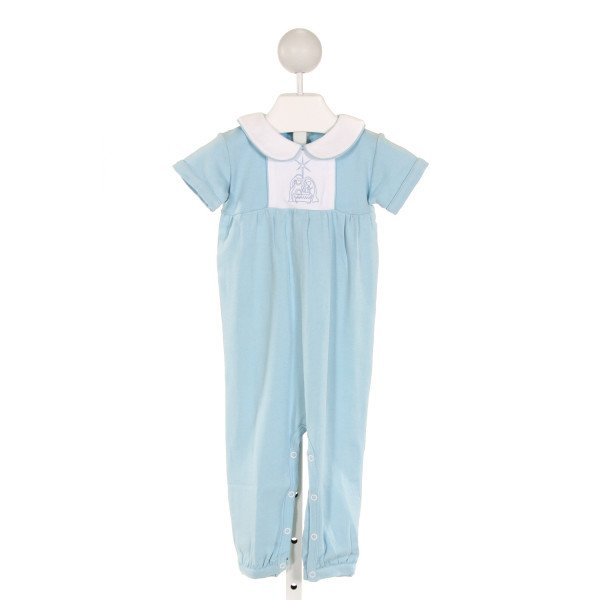 EYELET & IVY  BLUE   EMBROIDERED LONGALL/ROMPER