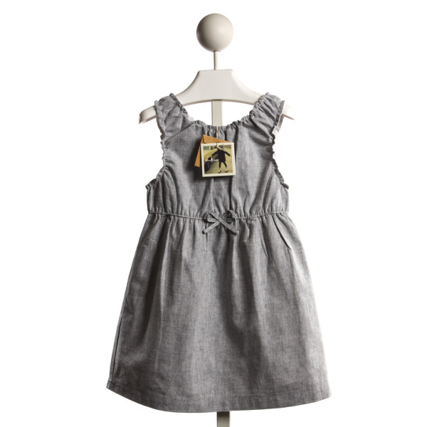 OLIVE JUICE LIGHT GRAY CHAMBRAY DRESS