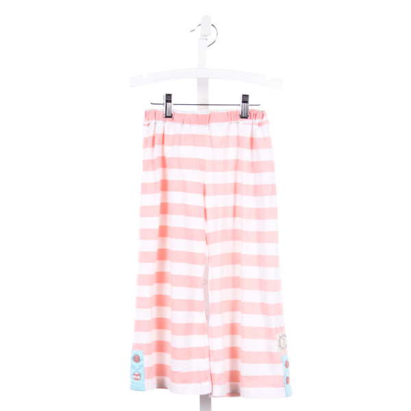 SWANKY BABY VINTAGE PINK STRIPED KNIT CROPPED PANTS *SIZE 6/7 *LIGHT WASH WEAR