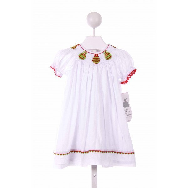 RARE EDITIONS  WHITE   SMOCKED CASUAL DRESS