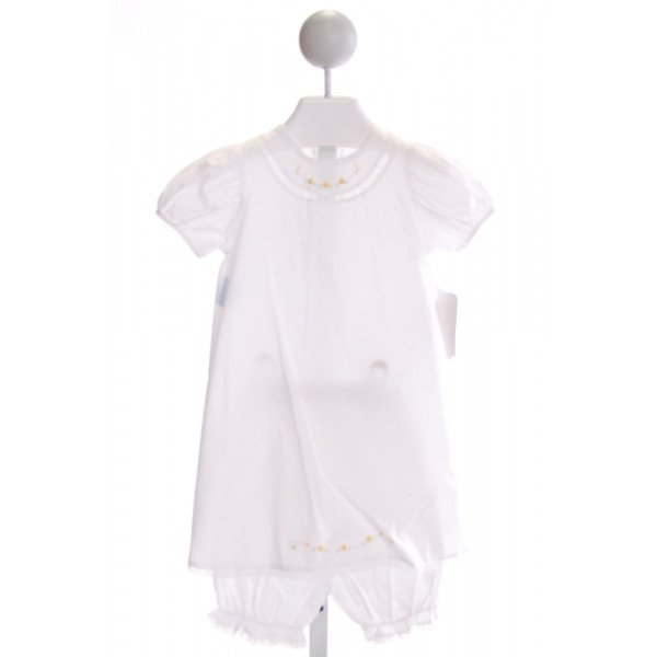 REMEMBER NGUYEN  OFF-WHITE   EMBROIDERED 2-PIECE OUTFIT WITH LACE TRIM
