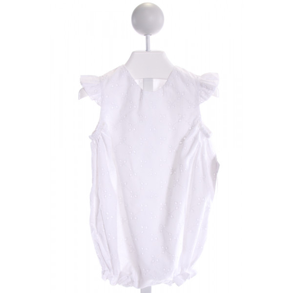 HANNAH KATE  WHITE   EMBROIDERED BUBBLE WITH RUFFLE