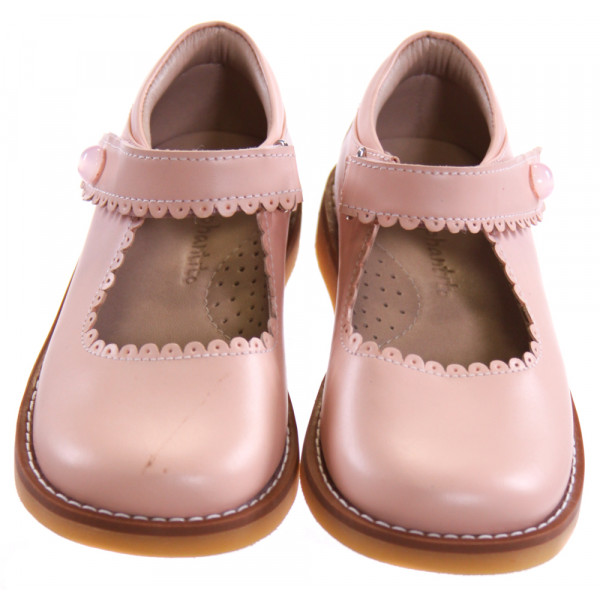 ELEPHANTITO PINK SHOES WITH SCALLOPING *SIZE 8, VGU - MINOR SCRATCH AND PINPOINT DISCOLORATIONS