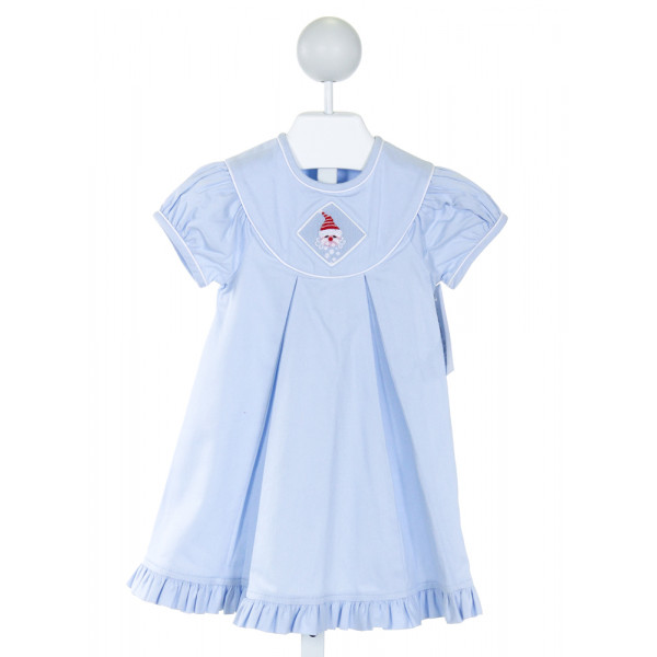 BEAUX ET BELLES  LT BLUE    DRESS WITH RUFFLE