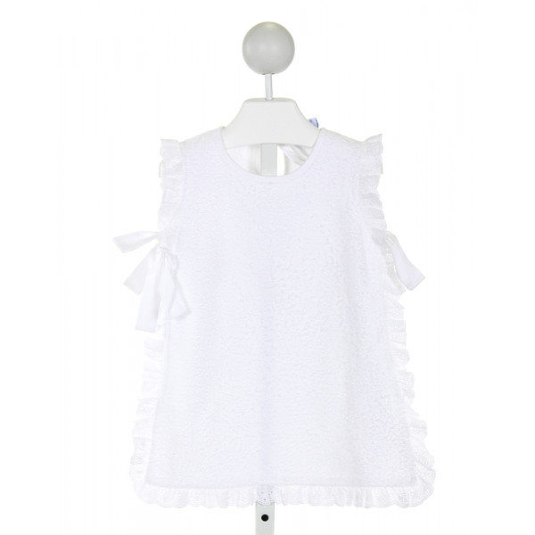 EYELET & IVY  WHITE TERRY CLOTH   COVER UP WITH EYELET TRIM