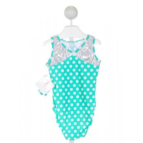 TUMBLE WEAR  TURQUOISE  POLKA DOT  LEOTARD