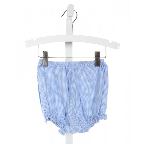 MARY & GRACE  LT BLUE  GINGHAM  BLOOMERS WITH RUFFLE