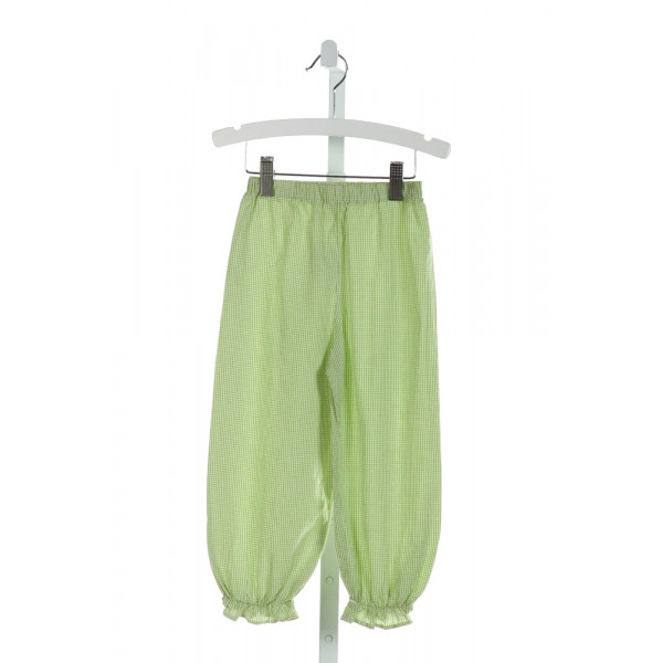 BLUE BUMBLEBEE  LT GREEN  GINGHAM  PANTS WITH RUFFLE