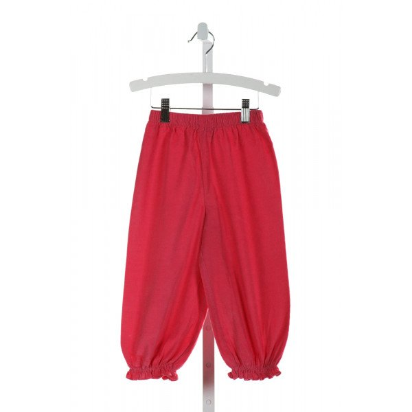 STITCHY FISH  HOT PINK CORDUROY   PANTS WITH RUFFLE
