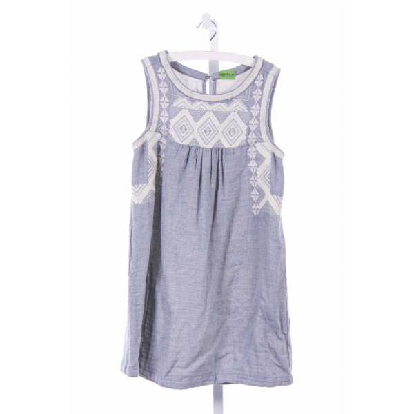 NO TAG  BLUE   EMBROIDERED CASUAL DRESS