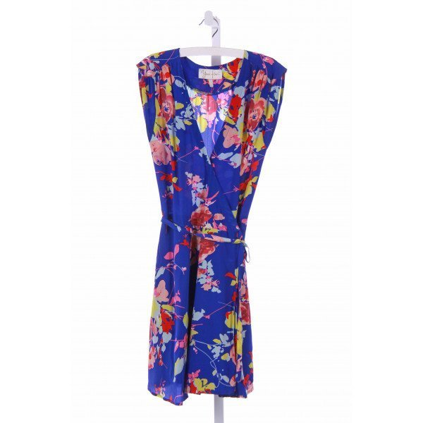 YUMI KIM  ROYAL BLUE  FLORAL  CASUAL DRESS