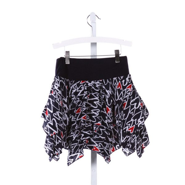 KATE MACK  MULTI-COLOR   PRINTED DESIGN SKIRT WITH RUFFLE