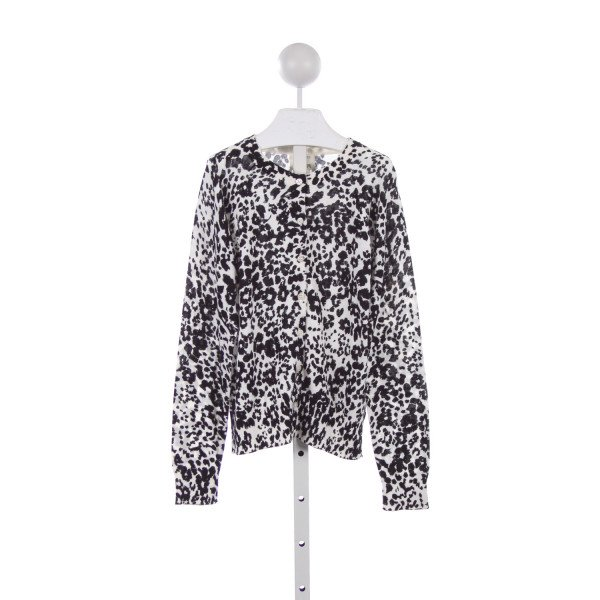 CREWCUTS FACTORY BLACK AND WHITE LEOPARD PRINT SWEATER