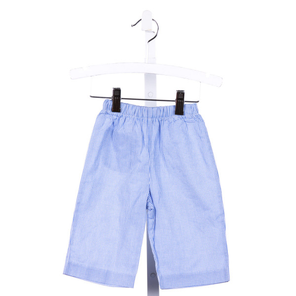 THE TRAVELIN TRUNK  BLUE  GINGHAM  PANTS