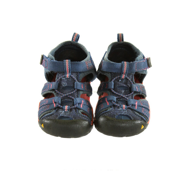 KEEN BLUE SANDALS *SIZE TODDLER 7, VGU - MINOR  WEAR AND LIGHT  DISCOLORATION