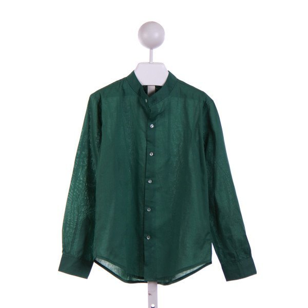 FLORA AND HENRI  GREEN    DRESS SHIRT