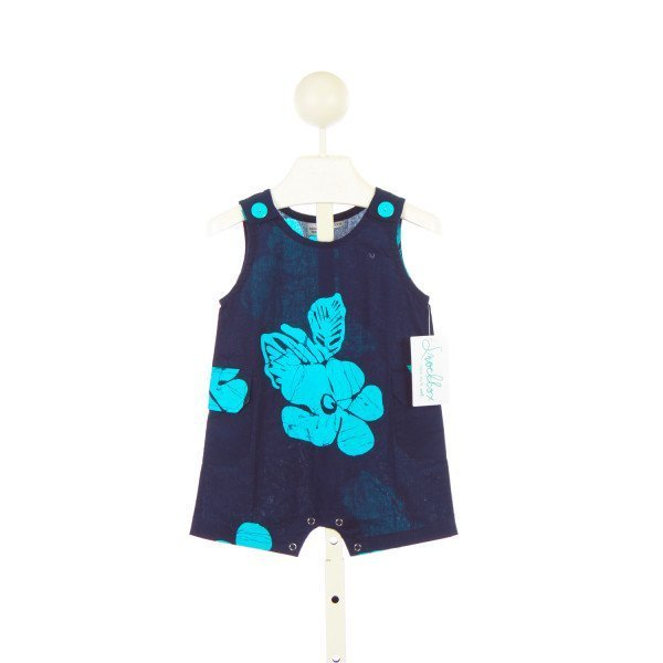 KOKO-NUT KIDS BLUE HAWAIIAN PRINT ROMPER