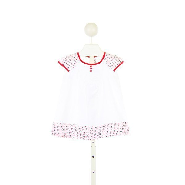 IDEO COLLECTION WHITE AND RED POLKA DOT DRESS