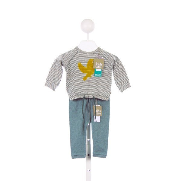 KIDS CASE GREEN STRIPED KNIT SET WITH YELLOW BIRD