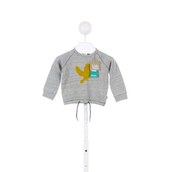 KIDS CASE GREEN STRIPED KNIT TOP WITH YELLOW BIRD