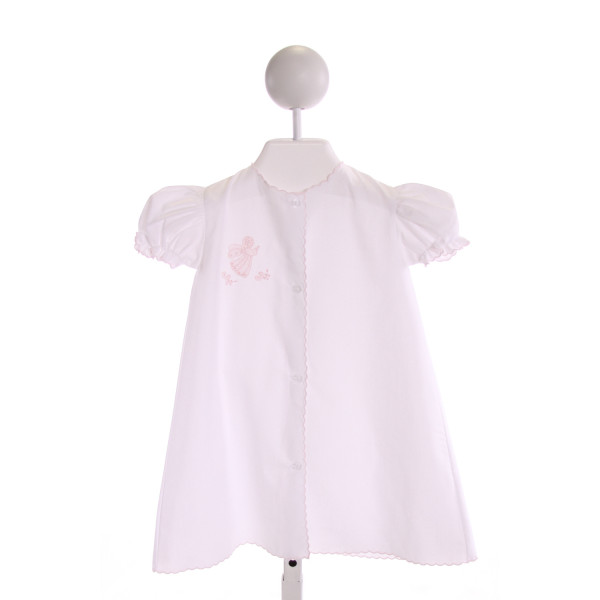 AURALUZ  WHITE   EMBROIDERED LAYETTE WITH RUFFLE