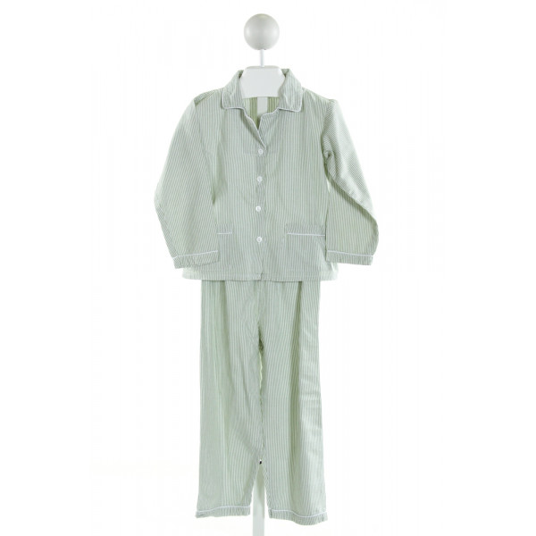 SWEET DREAMS  LT GREEN  STRIPED  LOUNGEWEAR