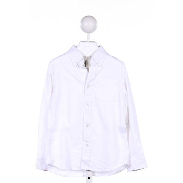 E-LAND  WHITE    CLOTH LS SHIRT