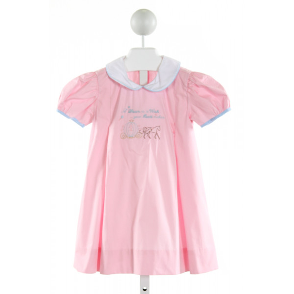 BENOIT & MATISSE  PINK   EMBROIDERED DRESS