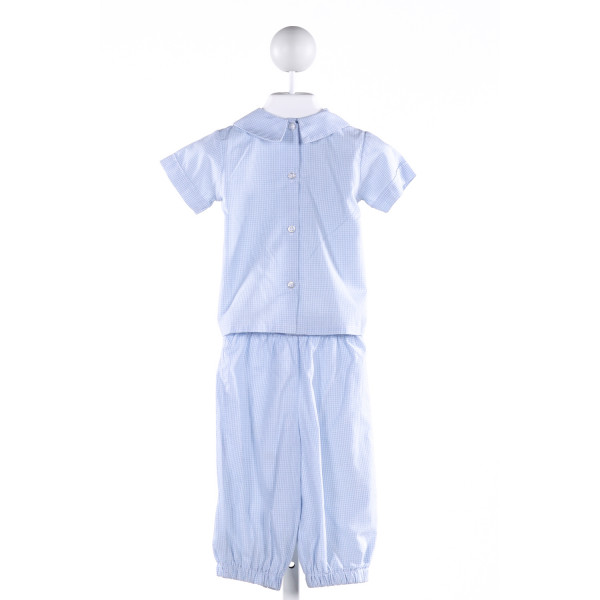 BENOIT & MATISSE  BLUE  GINGHAM EMBROIDERED 2-PIECE OUTFIT