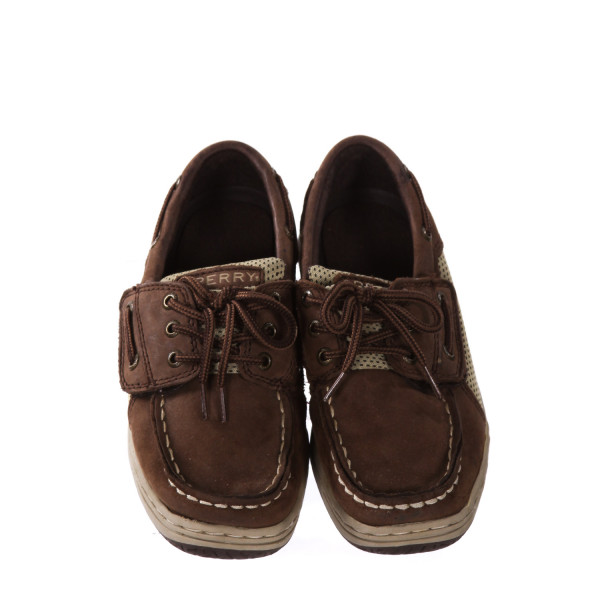 SPERRY CHOCOLATE BROWN LOAFERS *SIZE 12 MEDIUM, EUC