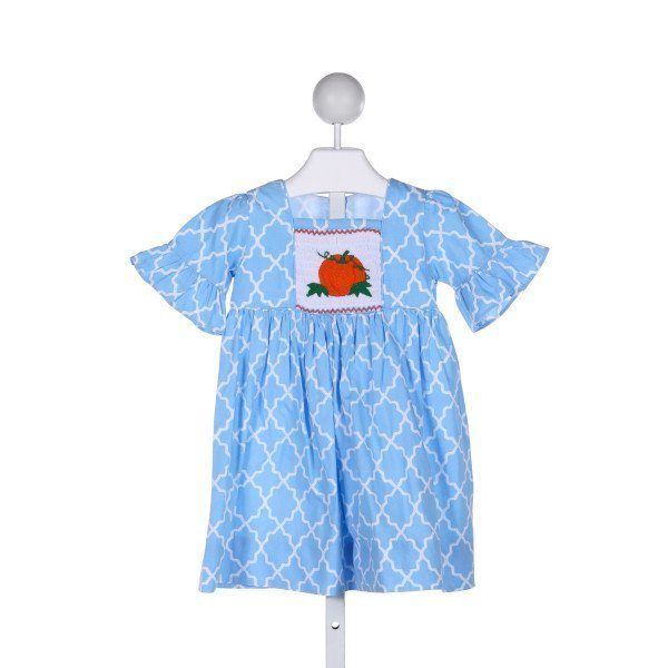 SMOCKED OR NOT  BLUE COTTON  SMOCKED DRESS