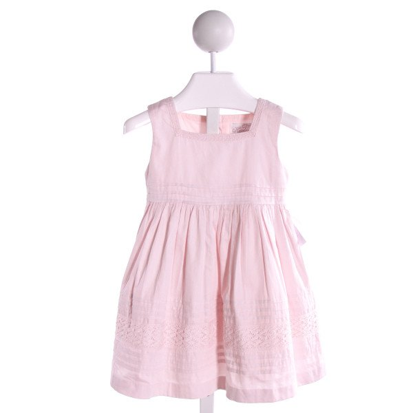 POLLY FINDERS  LT PINK   EMBROIDERED DRESS