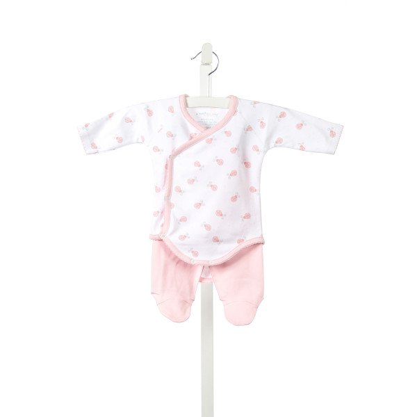 A MOTHERS ARMS PINK LADYBUGS KNIT ONESIE WITH PINK KNIT PANTS