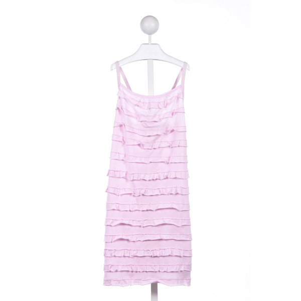 CREWCUTS FACTORY PINK RUFFLE KNIT DRESS