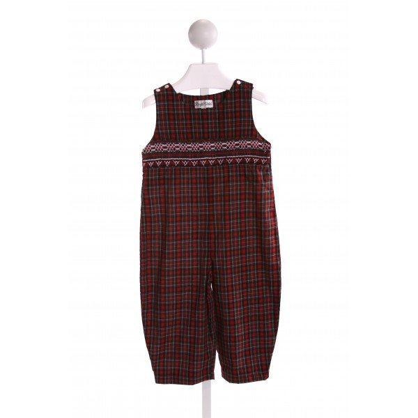 ROYAL CHILD  MULTI-COLOR  PLAID SMOCKED ROMPER
