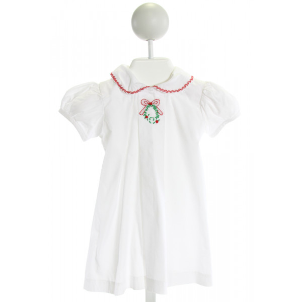 DONDOLO  WHITE   EMBROIDERED DRESS