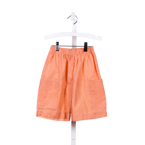 COTTON BLU  ORANGE  GINGHAM  SHORTS