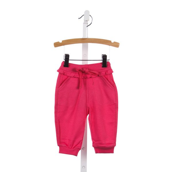 BABYCOTTONS PINK KNIT JOGGER PANTS
