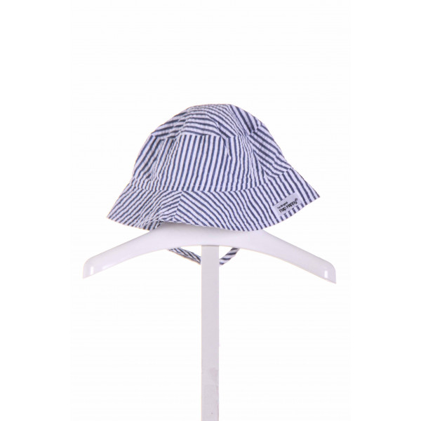 THE ORIGINAL FLAP HAPPY  CHAMBRAY SEERSUCKER STRIPED  ACCESSORIES - HEADWEAR