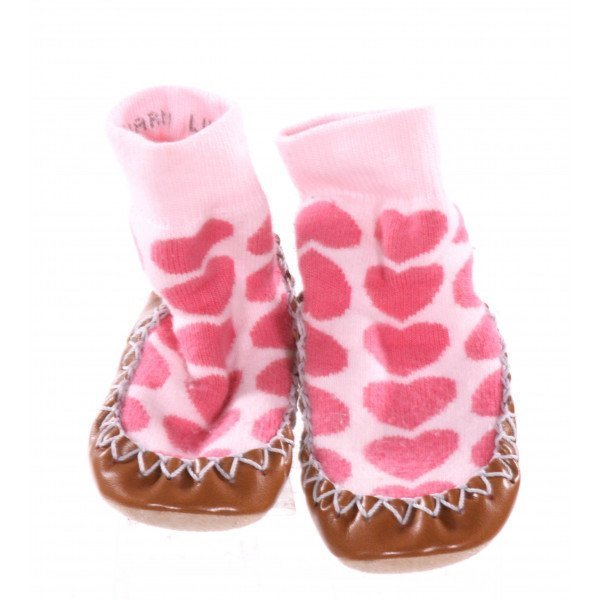 HANNA ANDERSSON PINK HEART BOOTIES *APPROX SIZE 18M = APPROX SIZE 6, EUC - SLIGHT PILLING
