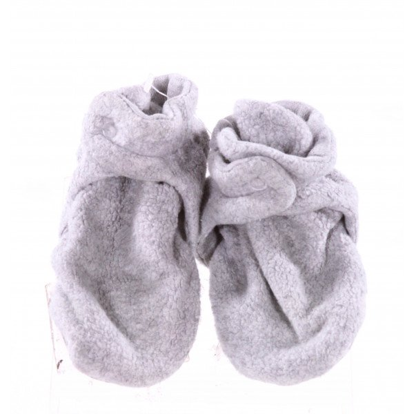 ZUTANO GRAY FLEECE BOOTIES *SIZE 18M = AN APPROX 6, EUC, PINPOINT STAINS