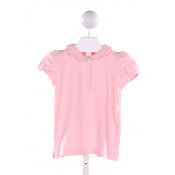 BEST & CO.  PINK    CLOTH SS SHIRT WITH RUFFLE