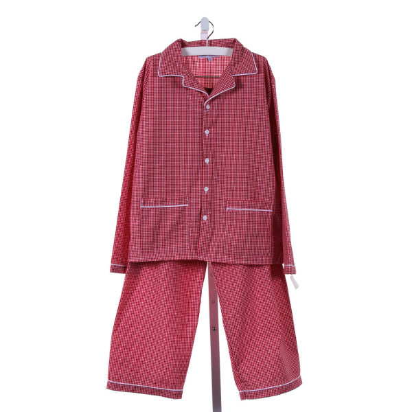 SWEET DREAMS  MAROON  GINGHAM  LOUNGEWEAR