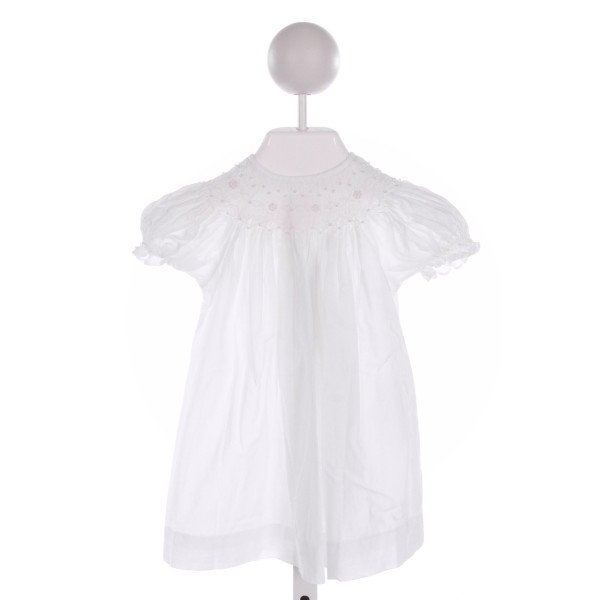 MOM & ME  WHITE   SMOCKED DRESS WITH RUFFLE