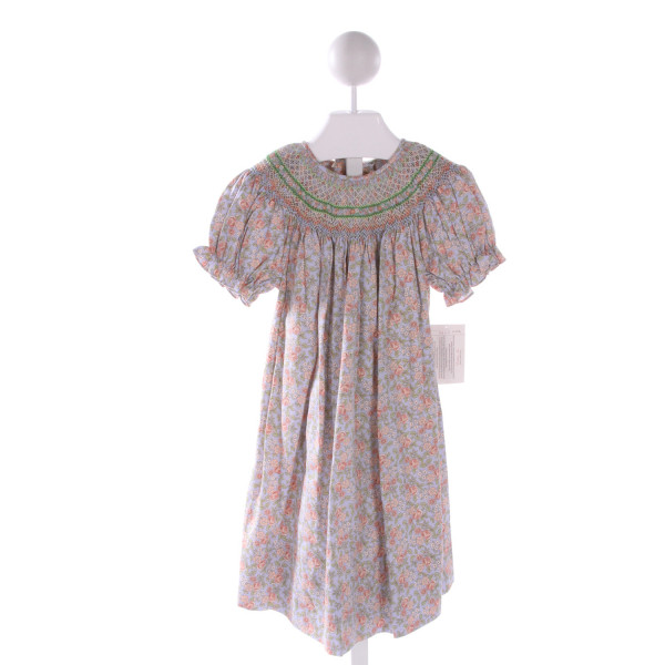 ROSALINA  MULTI-COLOR  FLORAL SMOCKED DRESS WITH RUFFLE