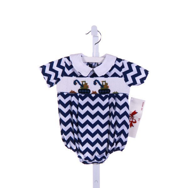 SILLY GOOSE  ROYAL BLUE   SMOCKED BUBBLE