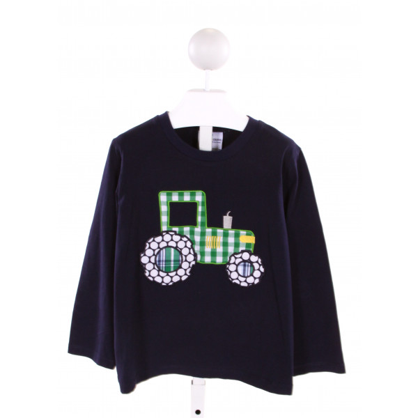 CASTLES & CROWNS  NAVY   APPLIQUED KNIT LS SHIRT