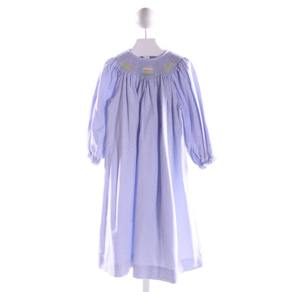 SILLY GOOSE  LT BLUE   SMOCKED DRESS WITH RUFFLE