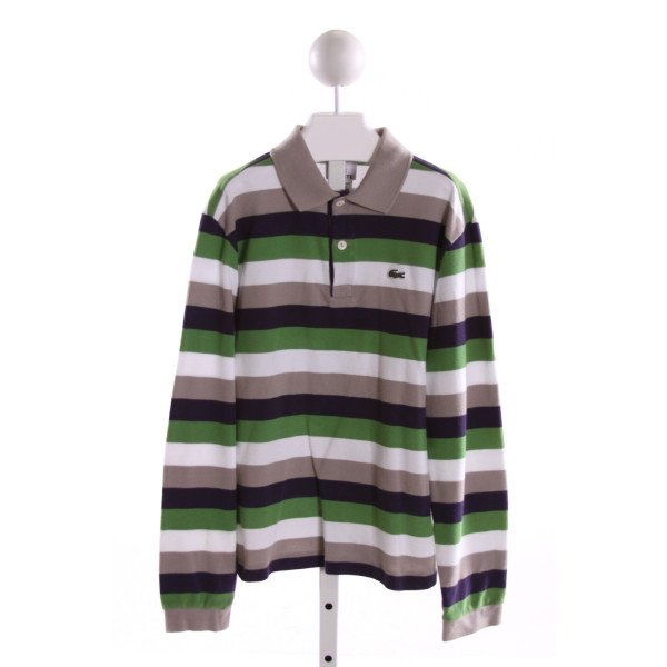 LACOSTE  MULTI-COLOR  STRIPED  CLOTH LS SHIRT