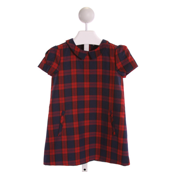 JACADI  RED  PLAID  DRESS
